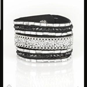 Rhinestone Rumble Black Urban Bracelet